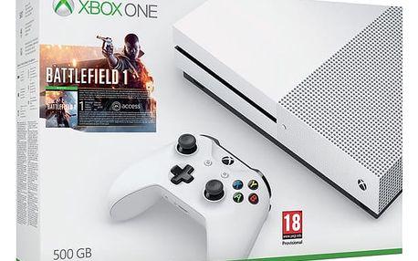 Herní konzole Microsoft 500 GB + Battlefield 1 (ZQ9-00038) bílá + DOPRAVA ZDARMA