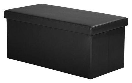 Sedací úložný box černý