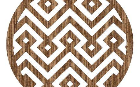 MADAM STOLTZ Dřevěné podtácky Natural - set 6 ks, hnědá barva, dřevo