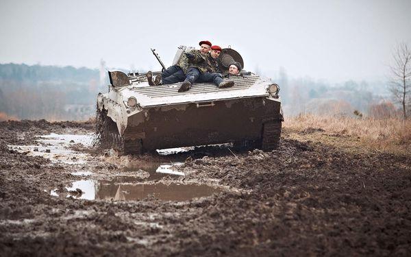 Akční jízda v BVP - obrněnci sovětské pěchoty4