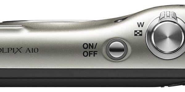 Digitální fotoaparát Nikon Coolpix A10 stříbrný2
