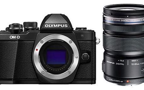 Digitální fotoaparát Olympus E-M10 II 1250 + objektiv 12-50mm 3,5-6,3 (V207050BE010) černý Spací pytel Husky Tamper + DOPRAVA ZDARMA