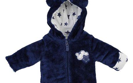 JACKY Zimní bundička s kapucou chlup CLOUD & STAR, vel. 74- modrá, Unisex