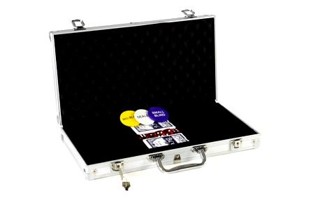 Garthen 492 Hliníkový kufr na 300 žetonů s příslušenstvím