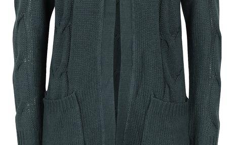 Tmavě zelený cardigan s kapsami Noisy May Wilba