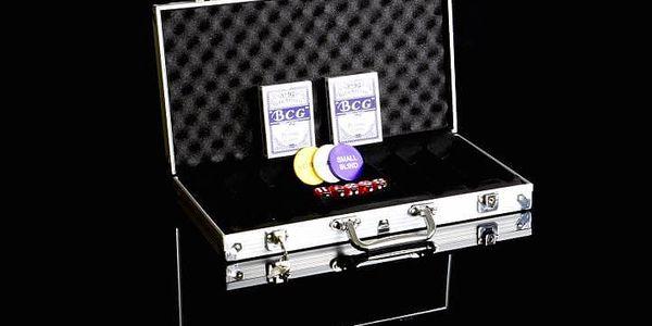 Garthen 492 Hliníkový kufr na 300 žetonů s příslušenstvím5