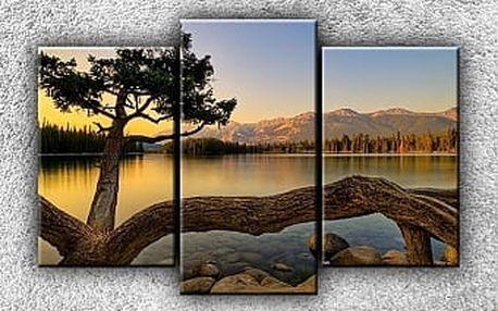 Západ nad jezerem