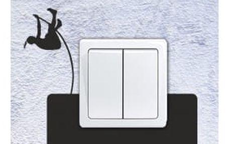 Smolepka na zeď Samolepka na vypínač - skok o tyči