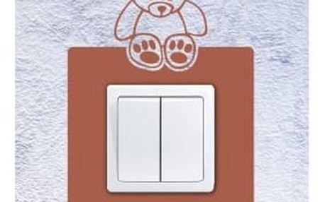 Smolepka na zeď Samolepka na vypínač - Medvídek