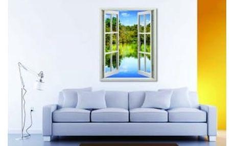 Živá dekorace na Okno - výhled na jezero