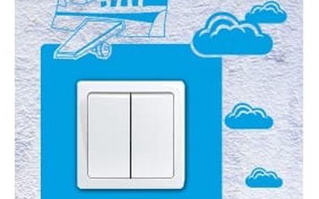 Smolepka na zeď Samolepka na vypínač - Letadlo