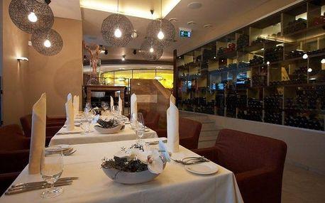 Romantická večeře Brno Degustační menu GRAND s vínem večeře při svíčkách