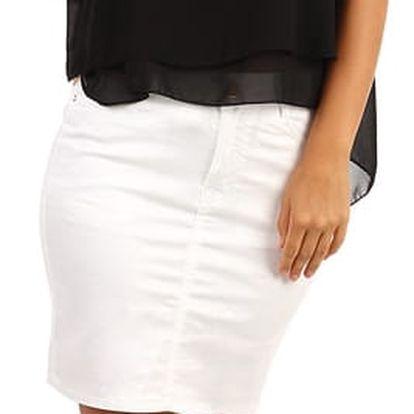 Dámská pouzdrová sukně - i pro plnoštíhlé bílá