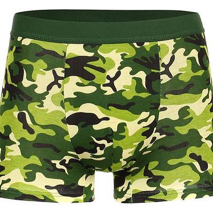 Bavlněné maskáčové boxerky zelená