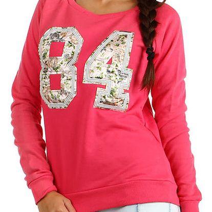 Dámská mikina/tričko s potiskem růžová