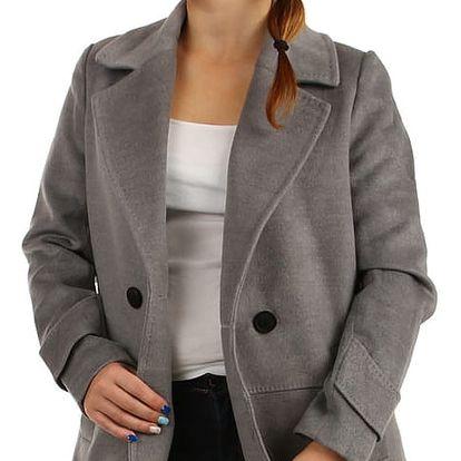 Dámský oversized kabátek na knoflík modrá
