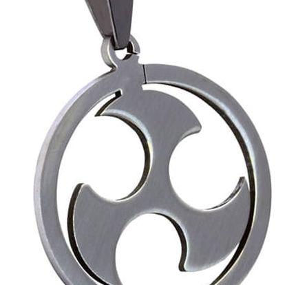 Ocelový přívěsek kruh