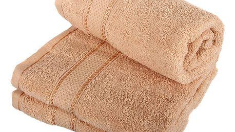Froté ručník se vzorem Menheten růžová