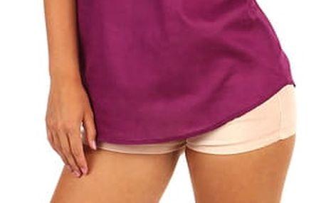 Prodloužená dámská halenka- krátký rukáv fialová