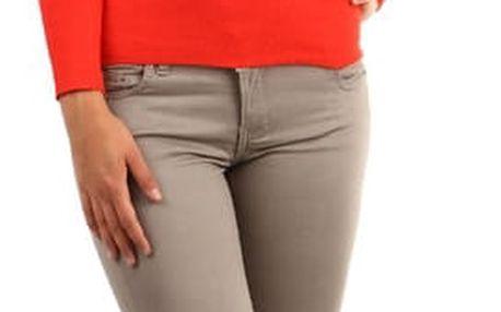 Zavinovací svetr s nařaseným výstřihem  oranžová