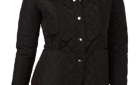 Dámská prošívaná bunda s límečkem černá