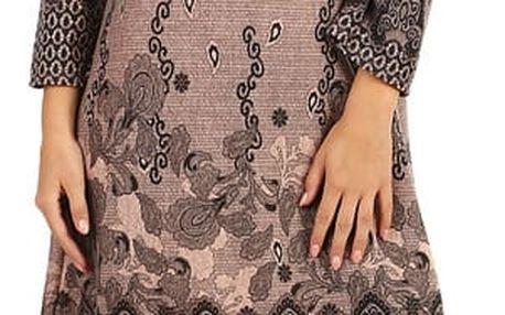 Dámské šaty áčkového střihu - i pro plnoštíhlé růžová