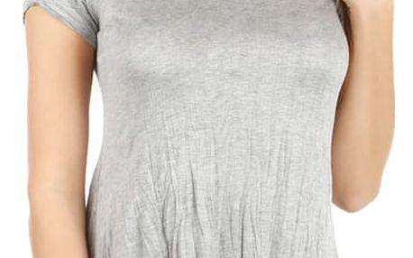 Dámské asymetrické tričko šedá