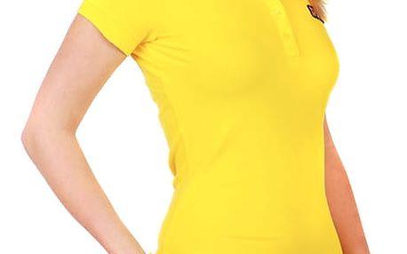 Dámské triko s límečkem žlutá