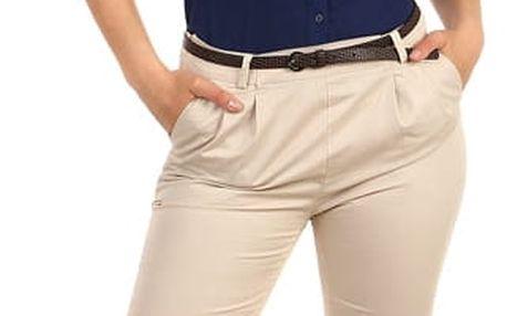 Dámské business kalhoty béžová