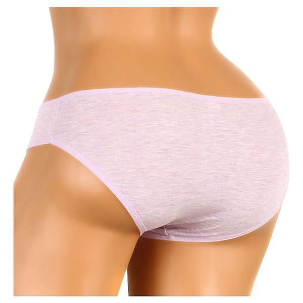Žíhané bavlněné kalhotky růžová4