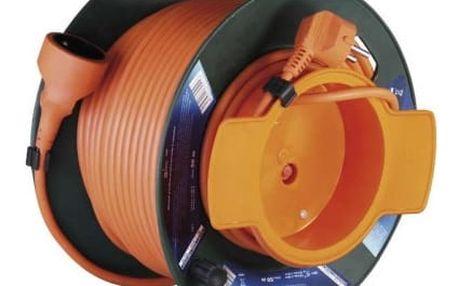 Emos P19150, PVC prodlužovací kabel na bubnu, spojka 50m