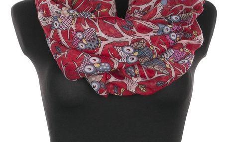 Delfin Dámský šátek s třpytkami Owl se sovičkami tunel