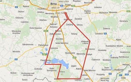 Vyhlídkový let nad jižní Moravou (3os., 40min.)