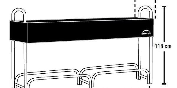 Přístřešek na dřevo ShelterLogic délka 2,4 m2