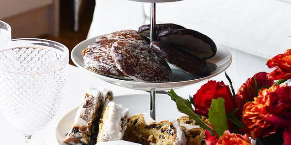 EH Excellent Houseware Kulatý podnos na koláče, dorty, ovoce 3 patra, keramický 87112957059084