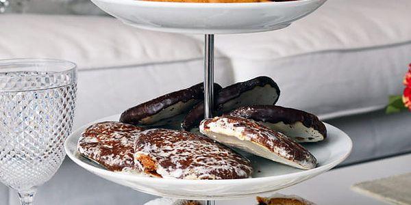 EH Excellent Houseware Kulatý podnos na koláče, dorty, ovoce 3 patra, keramický 87112957059085