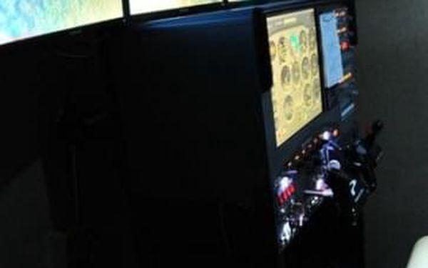 Můj první let - pohyblivý simulátor Cessna4