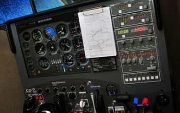 Můj první let - pohyblivý simulátor Cessna5