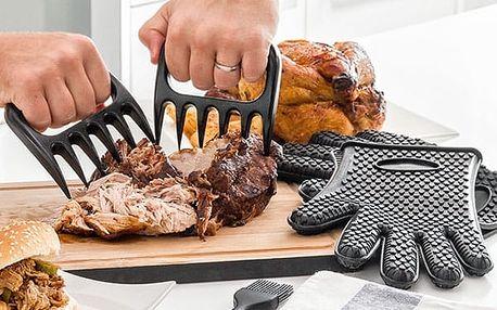 Drápy na Maso s Chňapkami a Štětcem InnovaGoods Kitchen Foodies