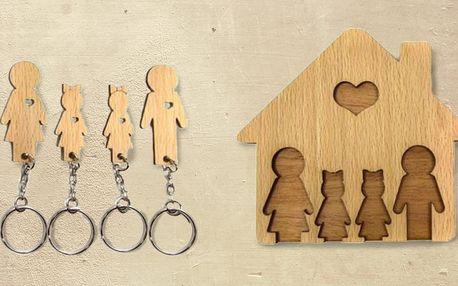 Dřevěný domeček na klíče v několika variantách