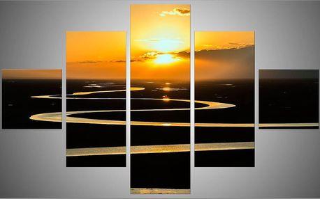 Pětidílný obraz 150x95 (2x30x30,2x30x68,30x95)