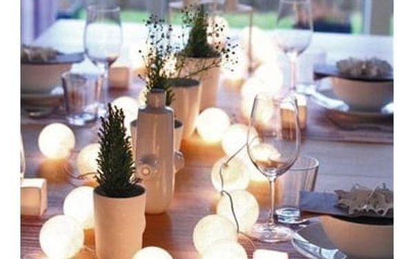 Solight Vánoční koule bavlněné 20 LED teplá bílá2