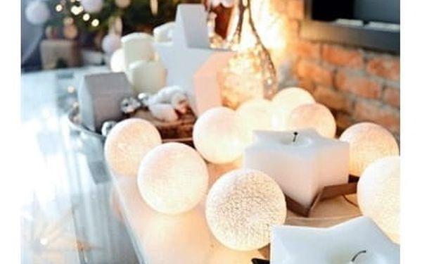 Solight Vánoční koule bavlněné 20 LED teplá bílá3