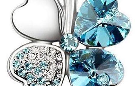 Fashion Icon Brož čtyřlístek s krystaly Swarovski elements