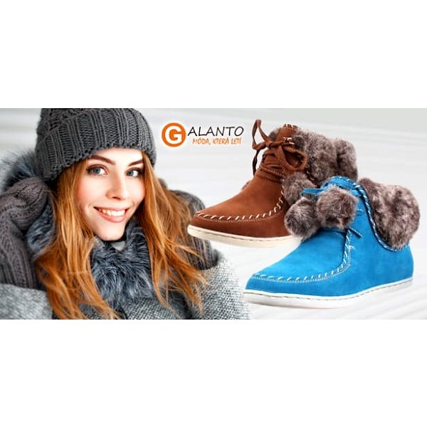 Dámská zimní kotníčková obuv s jemným kožíškem ve 4 různých barvách, velikost 36 až 402
