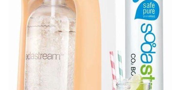 Výrobník sodové vody SodaStream Pastels JET PASTEL ORANGE oranžový + dárky Příchuť pro perlivou vodu SodaStream TROPIC Ananas-Kokos + Příchuť pro perlivou vodu SodaStream TROPIC Mango-Kokos v hodnotě 258 Kč2