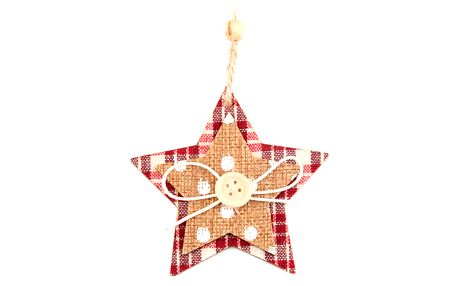 Dřevěná vánoční dekorace - Hvězda