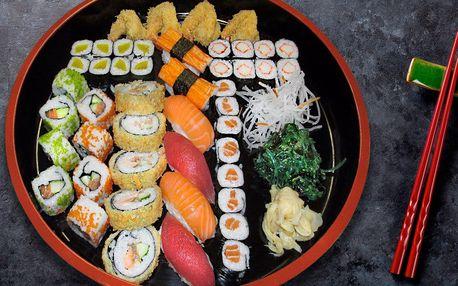 Barevné menu s 31 nebo 47 kousky sushi s sebou