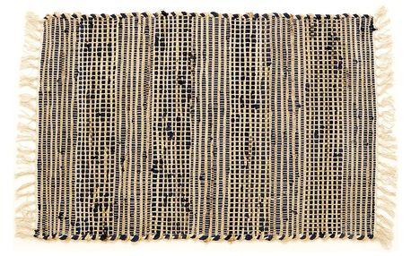 VOG Ručně tkaný koberec Juta tmavě modrá, 60 x 90 cm