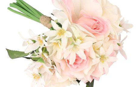 Dakls Umělá kytice Růží s květy snědku